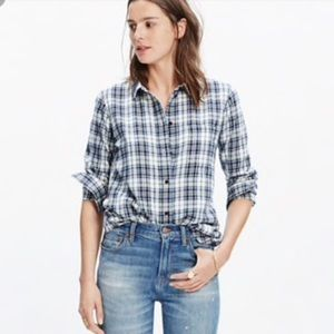 Madewell Plaid Button Button Down, Size Small